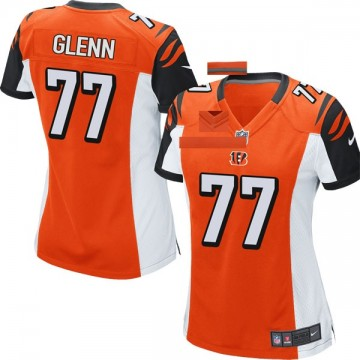 Women's Nike Cincinnati Bengals Cordy Glenn Orange Jersey - Game