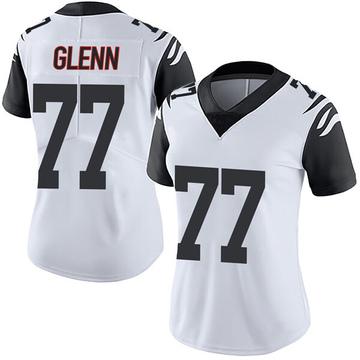 Women's Nike Cincinnati Bengals Cordy Glenn White Color Rush Vapor Untouchable Jersey - Limited