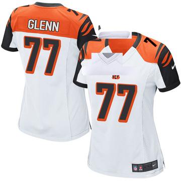 Women's Nike Cincinnati Bengals Cordy Glenn White Jersey - Game