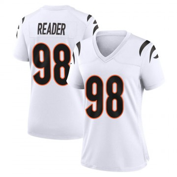 Women's Nike Cincinnati Bengals D.J. Reader White Jersey - Game