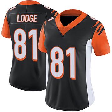Women's Nike Cincinnati Bengals DaMarkus Lodge Black Team Color Vapor Untouchable Jersey - Limited