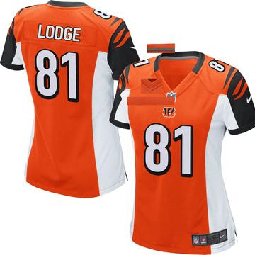 Women's Nike Cincinnati Bengals DaMarkus Lodge Orange Jersey - Game