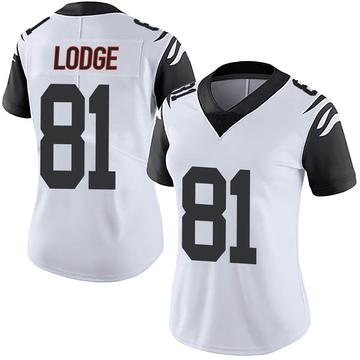 Women's Nike Cincinnati Bengals DaMarkus Lodge White Color Rush Vapor Untouchable Jersey - Limited