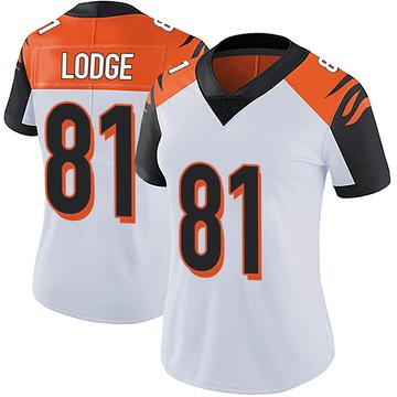 Women's Nike Cincinnati Bengals DaMarkus Lodge White Vapor Untouchable Jersey - Limited