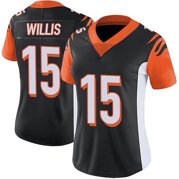 Women's Nike Cincinnati Bengals Damion Willis Black Team Color Vapor Untouchable Jersey - Limited