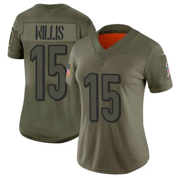 Women's Nike Cincinnati Bengals Damion Willis Camo 2019 Salute to Service Jersey - Limited