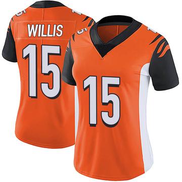 Women's Nike Cincinnati Bengals Damion Willis Orange Vapor Untouchable Jersey - Limited