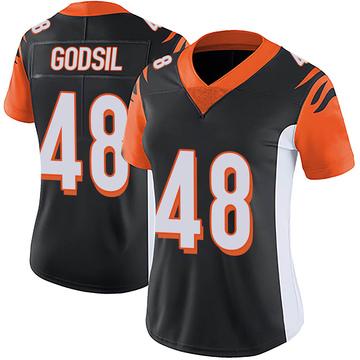 Women's Nike Cincinnati Bengals Dan Godsil Black Team Color Vapor Untouchable Jersey - Limited