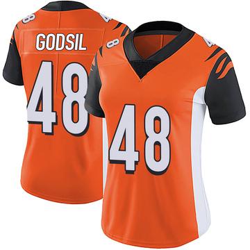 Women's Nike Cincinnati Bengals Dan Godsil Orange Vapor Untouchable Jersey - Limited