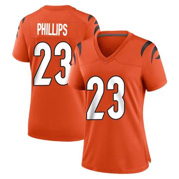 Women's Nike Cincinnati Bengals Darius Phillips Orange Jersey - Game