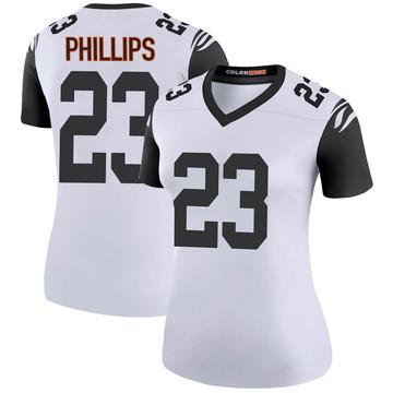 Women's Nike Cincinnati Bengals Darius Phillips White Color Rush Jersey - Legend