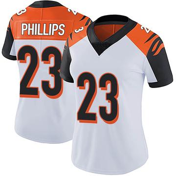 Women's Nike Cincinnati Bengals Darius Phillips White Vapor Untouchable Jersey - Limited