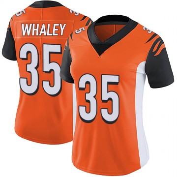 Women's Nike Cincinnati Bengals Devwah Whaley Orange Vapor Untouchable Jersey - Limited
