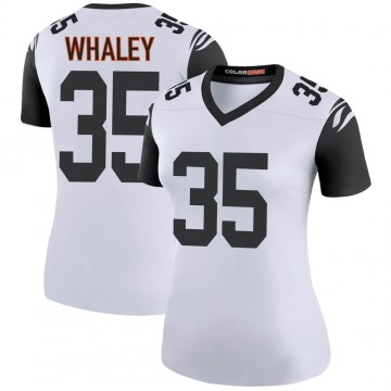 Women's Nike Cincinnati Bengals Devwah Whaley White Color Rush Jersey - Legend