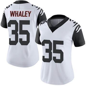 Women's Nike Cincinnati Bengals Devwah Whaley White Color Rush Vapor Untouchable Jersey - Limited