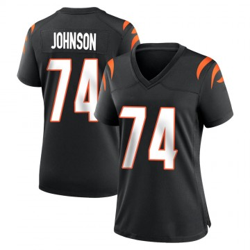 Women's Nike Cincinnati Bengals Fred Johnson Black Team Color Jersey - Game