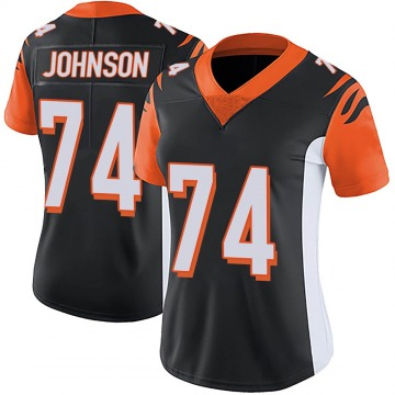 Women's Nike Cincinnati Bengals Fred Johnson Black Team Color Vapor Untouchable Jersey - Limited