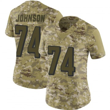 Women's Nike Cincinnati Bengals Fred Johnson Camo 2018 Salute to Service Jersey - Limited