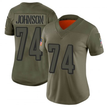 Women's Nike Cincinnati Bengals Fred Johnson Camo 2019 Salute to Service Jersey - Limited