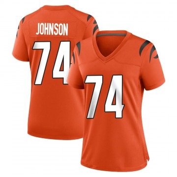 Women's Nike Cincinnati Bengals Fred Johnson Orange Jersey - Game