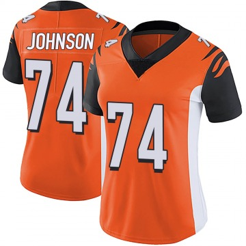 Women's Nike Cincinnati Bengals Fred Johnson Orange Vapor Untouchable Jersey - Limited