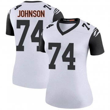 Women's Nike Cincinnati Bengals Fred Johnson White Color Rush Jersey - Legend
