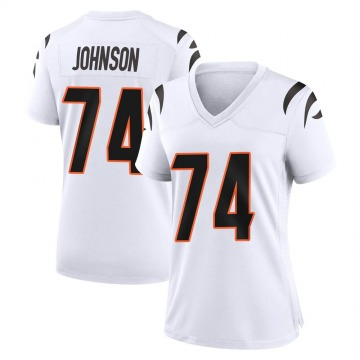 Women's Nike Cincinnati Bengals Fred Johnson White Jersey - Game