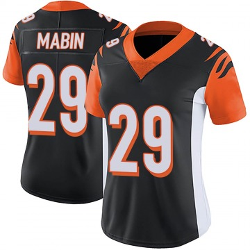 Women's Nike Cincinnati Bengals Greg Mabin Black Team Color Vapor Untouchable Jersey - Limited