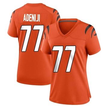 Women's Nike Cincinnati Bengals Hakeem Adeniji Orange Jersey - Game