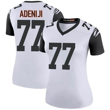Women's Nike Cincinnati Bengals Hakeem Adeniji White Color Rush Jersey - Legend