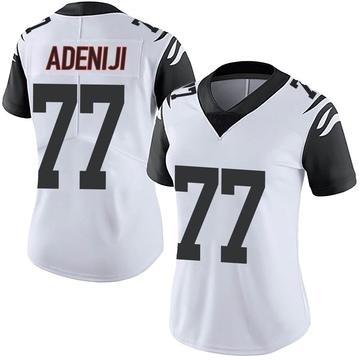 Women's Nike Cincinnati Bengals Hakeem Adeniji White Color Rush Vapor Untouchable Jersey - Limited