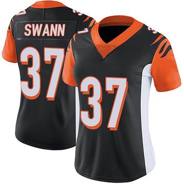 Women's Nike Cincinnati Bengals Isiah Swann Black Team Color Vapor Untouchable Jersey - Limited