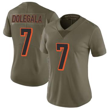 Women's Nike Cincinnati Bengals Jacob Dolegala Green 2017 Salute to Service Jersey - Limited