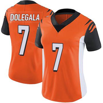 Women's Nike Cincinnati Bengals Jacob Dolegala Orange Vapor Untouchable Jersey - Limited