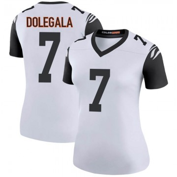 Women's Nike Cincinnati Bengals Jacob Dolegala White Color Rush Jersey - Legend