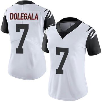 Women's Nike Cincinnati Bengals Jacob Dolegala White Color Rush Vapor Untouchable Jersey - Limited
