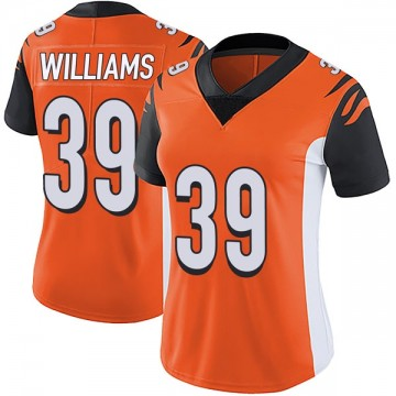 Women's Nike Cincinnati Bengals Jarveon Williams Orange Vapor Untouchable Jersey - Limited