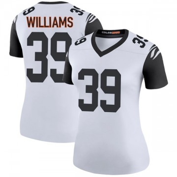 Women's Nike Cincinnati Bengals Jarveon Williams White Color Rush Jersey - Legend