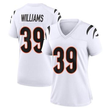 Women's Nike Cincinnati Bengals Jarveon Williams White Jersey - Game