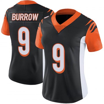 Women's Nike Cincinnati Bengals Joe Burrow Black Team Color Vapor Untouchable Jersey - Limited