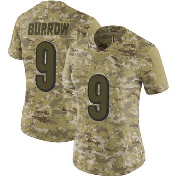 Women's Nike Cincinnati Bengals Joe Burrow Camo 2018 Salute to Service Jersey - Limited