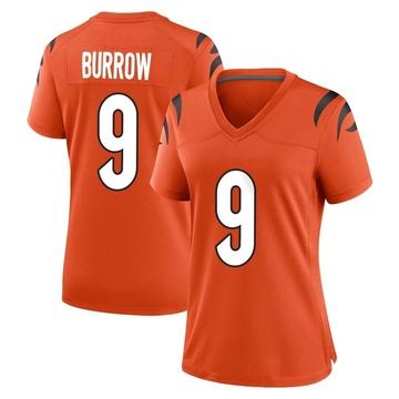 Women's Nike Cincinnati Bengals Joe Burrow Orange Jersey - Game