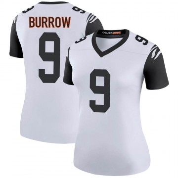 Women's Nike Cincinnati Bengals Joe Burrow White Color Rush Jersey - Legend