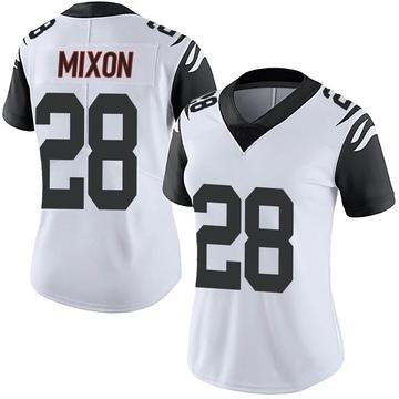 Women's Nike Cincinnati Bengals Joe Mixon White Color Rush Vapor Untouchable Jersey - Limited