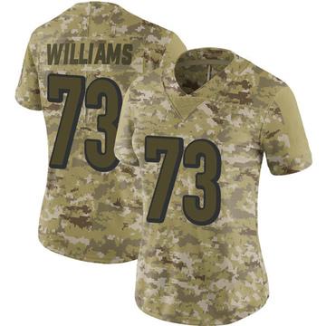 Women's Nike Cincinnati Bengals Jonah Williams Camo 2018 Salute to Service Jersey - Limited