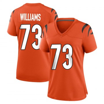 Women's Nike Cincinnati Bengals Jonah Williams Orange Jersey - Game