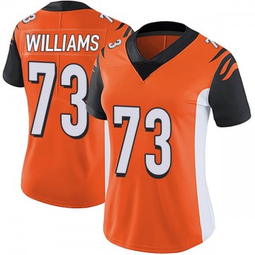 Women's Nike Cincinnati Bengals Jonah Williams Orange Vapor Untouchable Jersey - Limited