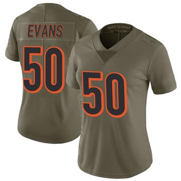 Women's Nike Cincinnati Bengals Jordan Evans Green 2017 Salute to Service Jersey - Limited