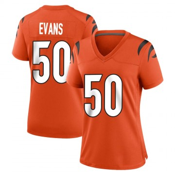 Women's Nike Cincinnati Bengals Jordan Evans Orange Jersey - Game