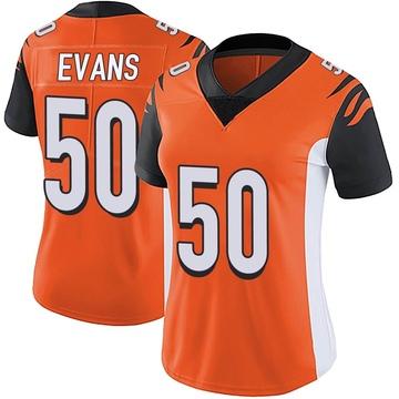Women's Nike Cincinnati Bengals Jordan Evans Orange Vapor Untouchable Jersey - Limited